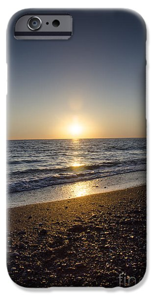 Healing Posters iPhone Cases - Golden Sunset2 iPhone Case by Bruno Santoro
