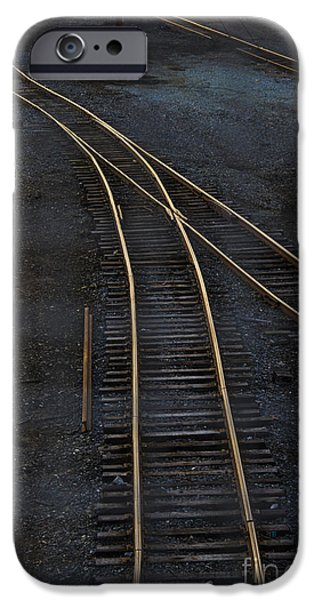 Train iPhone Cases - Golden Tracks iPhone Case by Margie Hurwich