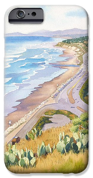 Pacific iPhone Cases - Golden View from Torrey Pines iPhone Case by Mary Helmreich