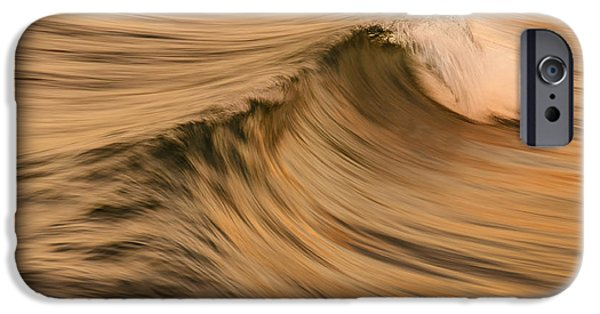 Wind Surfing Art iPhone Cases - Golden wave of Hawaii iPhone Case by Tin Lung Chao