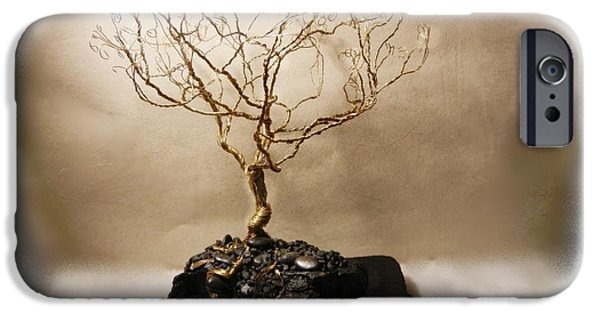 Silver Sculptures iPhone Cases - Golden Years iPhone Case by Joyce  McCormick-Mabry