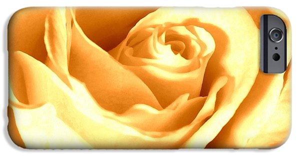 Gold Rose iPhone Cases - Golden Yellow Rose iPhone Case by Janine Riley