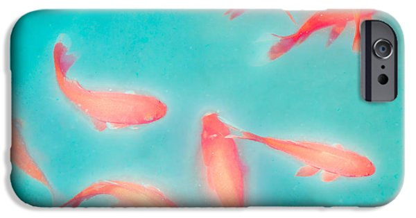 Gary Heller iPhone Cases - Goldfish - Glowing Fish - Gary Heller iPhone Case by Gary Heller