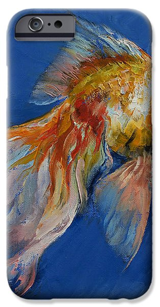 Goldfish iPhone Case by Michael Creese