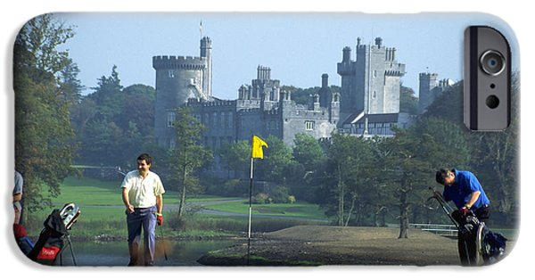 Dromoland iPhone Cases - Golf at Dromoland Castle iPhone Case by Carl Purcell