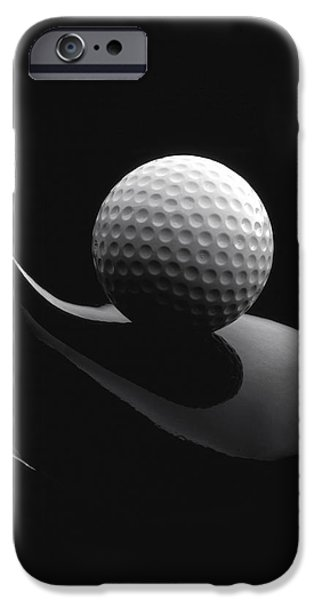 Drama iPhone Cases - Golf Ball And Club iPhone Case by John Wong