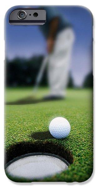 Golf Ball Near Cup iPhone Case by Darren Greenwood