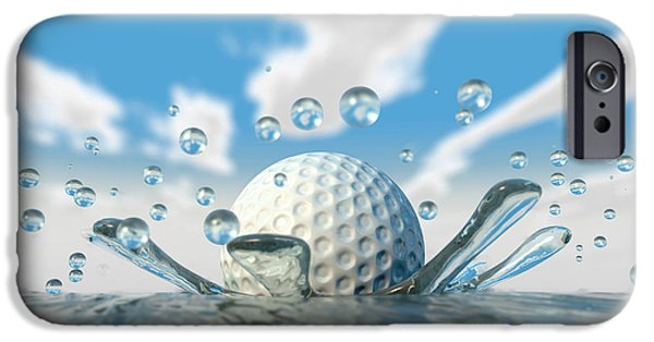 Impacting iPhone Cases - Golf Ball Water Splash iPhone Case by Allan Swart