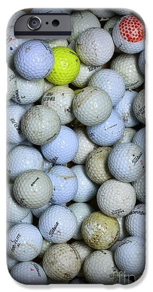 Sports Bar iPhone Cases - Golf Balls 1 iPhone Case by Paul Ward