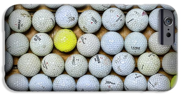 Sports Bar iPhone Cases - Golf Balls 2 iPhone Case by Paul Ward