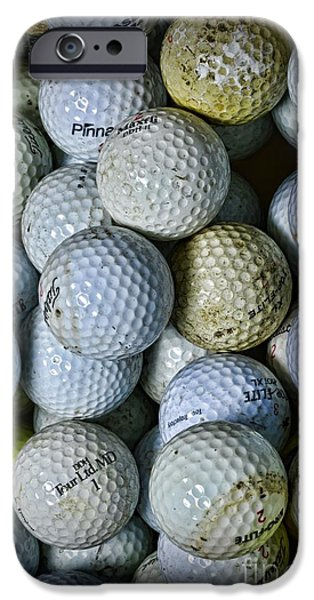 Sports Bar iPhone Cases - Golf Balls 3 iPhone Case by Paul Ward