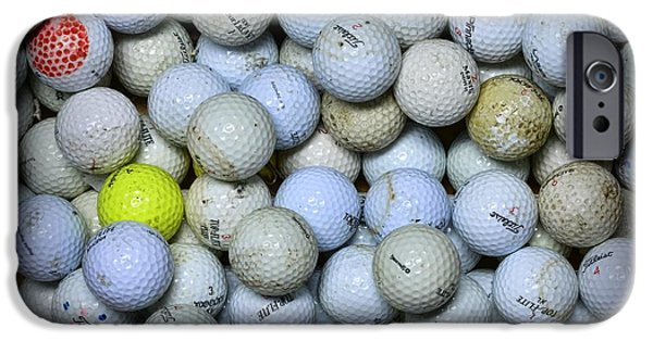 Sports Bar iPhone Cases - Golf Balls 4 iPhone Case by Paul Ward