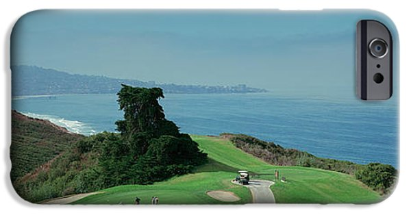 Pines iPhone Cases - Golf Course At The Coast, Torrey Pines iPhone Case by Panoramic Images