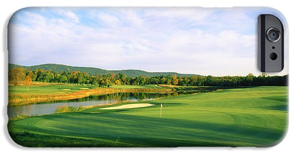 Prince William iPhone Cases - Golf Course, Bull Run Golf Club iPhone Case by Panoramic Images