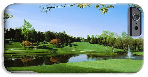 Montgomery iPhone Cases - Golf Course, Congressional Country iPhone Case by Panoramic Images