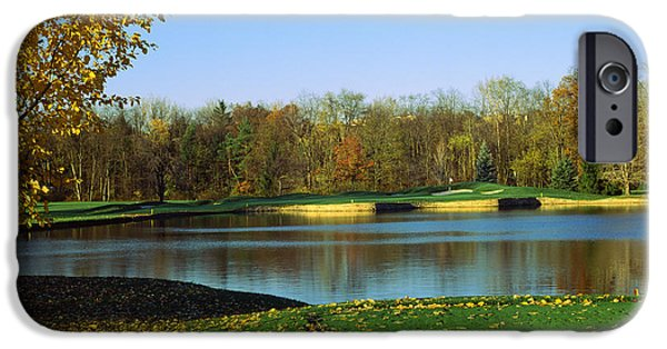 Fallen Leaf iPhone Cases - Golf Course, Laurel Valley Golf Club iPhone Case by Panoramic Images