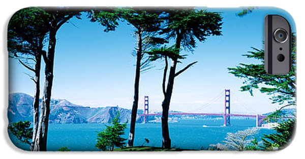 Boats In Water iPhone Cases - Golf Course W\ Golden Gate Bridge San iPhone Case by Panoramic Images