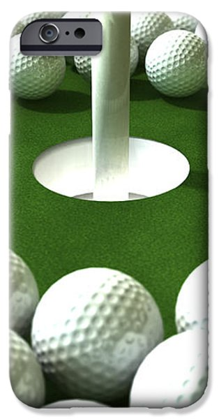 Golf Hole Assault iPhone Case by Allan Swart