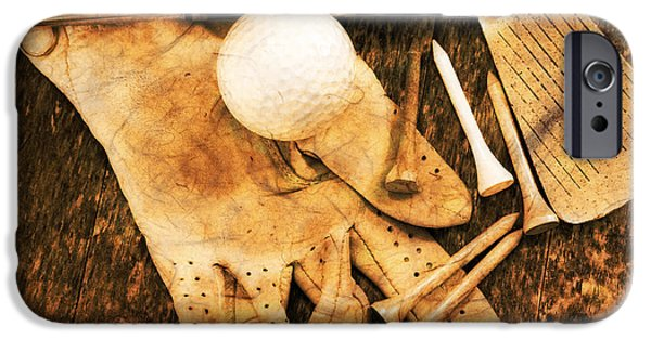 Retired iPhone Cases - Golf Memorabilia iPhone Case by Charline Xia