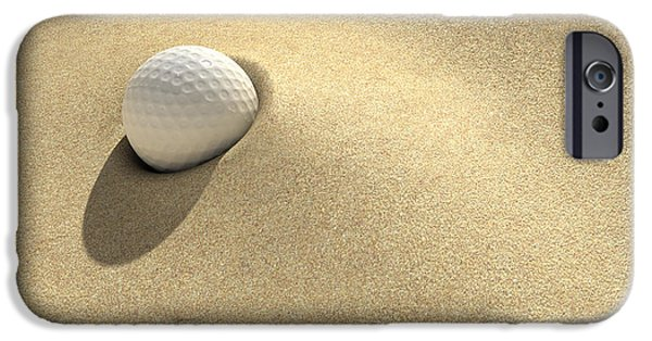 Enjoyment iPhone Cases - Golf Sand Trap iPhone Case by Allan Swart