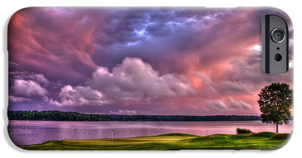 The Best Sunset iPhone Cases - Golf The Landing at Reynolds Plantation iPhone Case by Reid Callaway