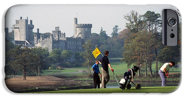 Dromoland iPhone Cases - Golfing at Dromoland Castle iPhone Case by Carl Purcell