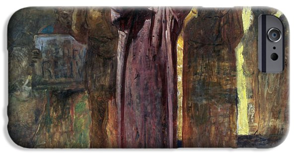 Passion iPhone Cases - Golgotha, 1892-93 Oil On Canvas iPhone Case by Ge