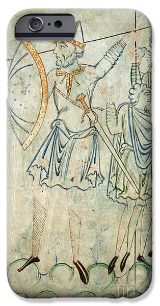 Goliath iPhone Cases - Goliath In Battle, 11th-century Artwork iPhone Case by British Library