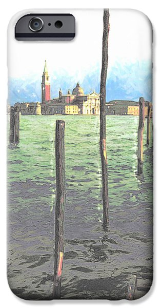 Sell Pastels iPhone Cases - Gondola moorings iPhone Case by Jon Delorme