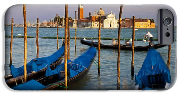 Piazza San Marco iPhone Cases - Gondola ride in Venice iPhone Case by Brian Jannsen