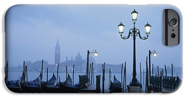 Piazza San Marco iPhone Cases - Gondolas In A Canal, Grand Canal, St iPhone Case by Panoramic Images