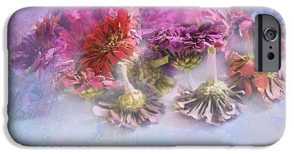 Zinnias iPhone Cases - Gone But Not Forgotten iPhone Case by Bonnie Bruno