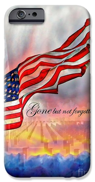Patriotism iPhone Cases - Gone But Not Forgotten Military Memorial iPhone Case by Barbara Chichester
