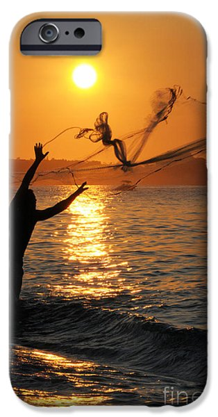 Ocean Sunset iPhone Cases - Gone Fishin iPhone Case by Dan Holm