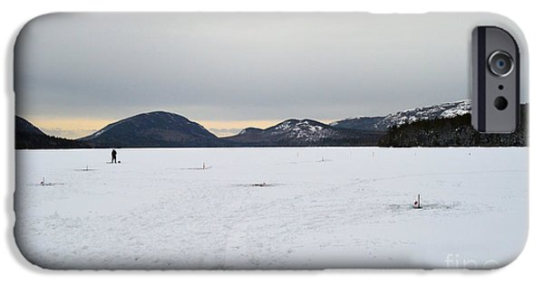 Best Sellers -  - Winter In Maine iPhone Cases - Gone fishing in Maine iPhone Case by Meandering Photography