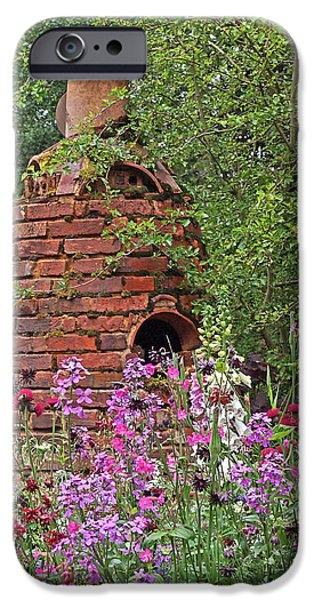 Garden Scene iPhone Cases - Gone To Pot - The Potters Flower Garden iPhone Case by Gill Billington