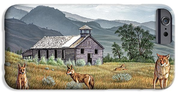 Abandoned Buildings iPhone Cases - Gone to the Dogs iPhone Case by Paul Krapf