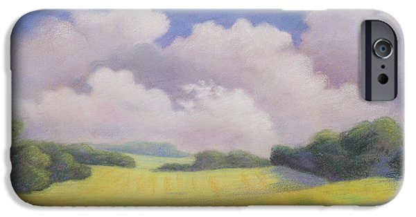 Field. Cloud Pastels iPhone Cases - Gone Tomorrow iPhone Case by Sammy Hancock Cundiff