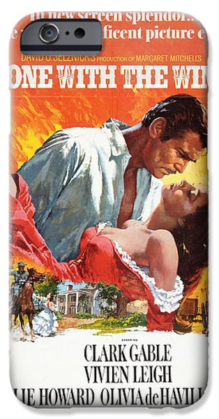 Drama iPhone Cases - Gone With the Wind - 1939 iPhone Case by Nomad Art And  Design