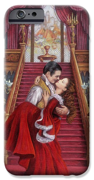 Staircase Paintings iPhone Cases - Gone With the Wind iPhone Case by Glenda Stevens