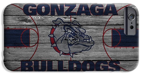 Recently Sold -  - Dunk iPhone Cases - Gonzaga Bulldogs iPhone Case by Joe Hamilton