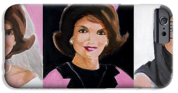 President And First Lady iPhone Cases - Good and Plenty Jackie O  iPhone Case by Candace Lovely