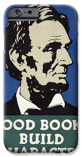 Character Study iPhone Cases - Good Books Build Character  1925 iPhone Case by Daniel Hagerman