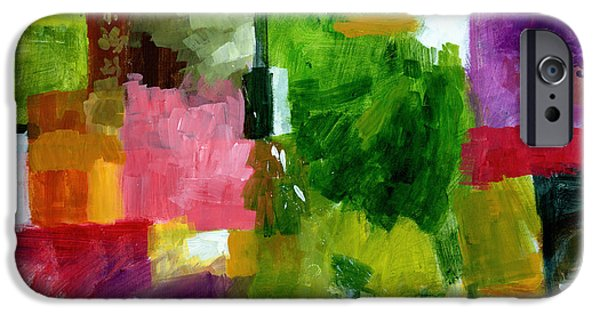 Abstract Expressionist Paintings iPhone Cases - Good Company iPhone Case by Douglas Simonson