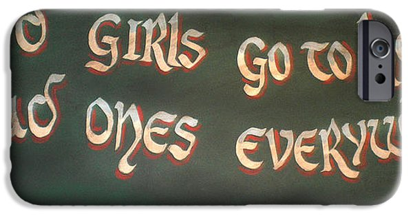 Text iPhone Cases - Good girls and bad ones iPhone Case by Gina Dsgn