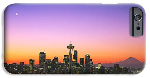 Seattle iPhone Cases - Good Morning America. iPhone Case by King Wu
