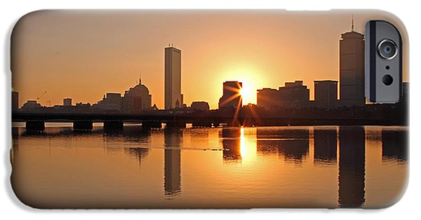 City. Boston iPhone Cases - Good Morning Boston iPhone Case by Juergen Roth