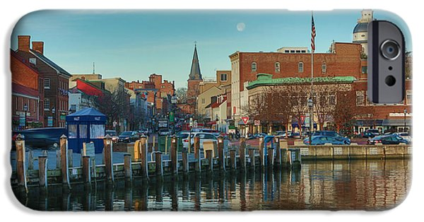 Annapolis Maryland iPhone Cases - Good Morning Downtown iPhone Case by Jennifer Casey