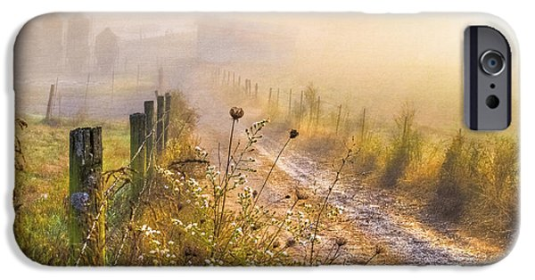 Mist iPhone Cases - Good Morning Farm iPhone Case by Debra and Dave Vanderlaan