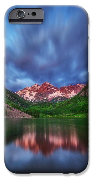 Morning iPhone Cases - Good Morning Maroon iPhone Case by Darren  White